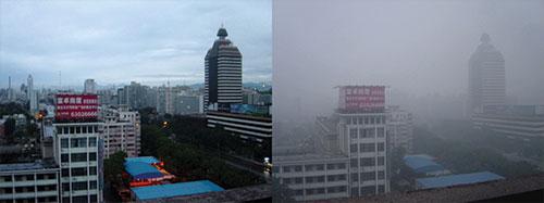 Comparison Image of Smog in Beijing