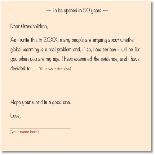 Letter To Grandchildren